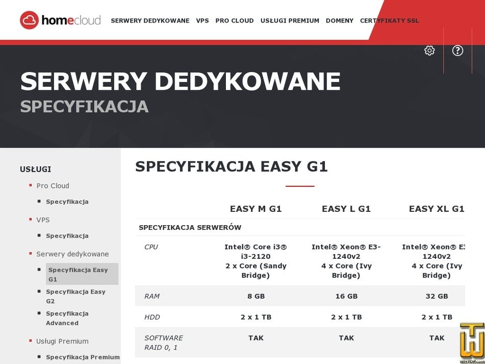 Screenshot of EASY M G1 from home.pl