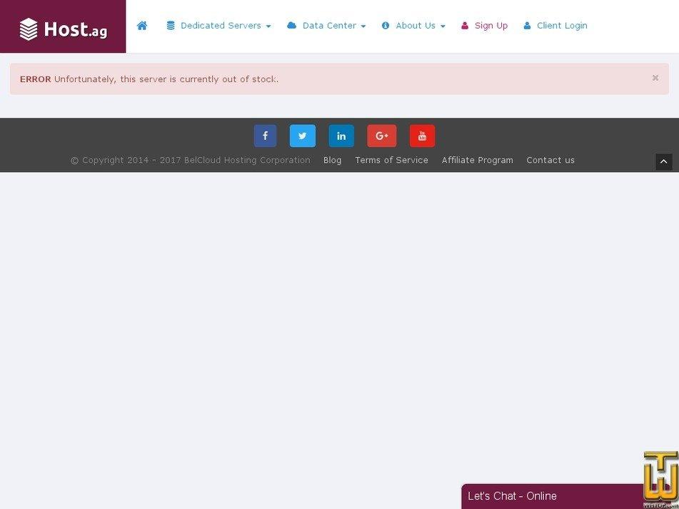 screenshot of SUPER from host.ag