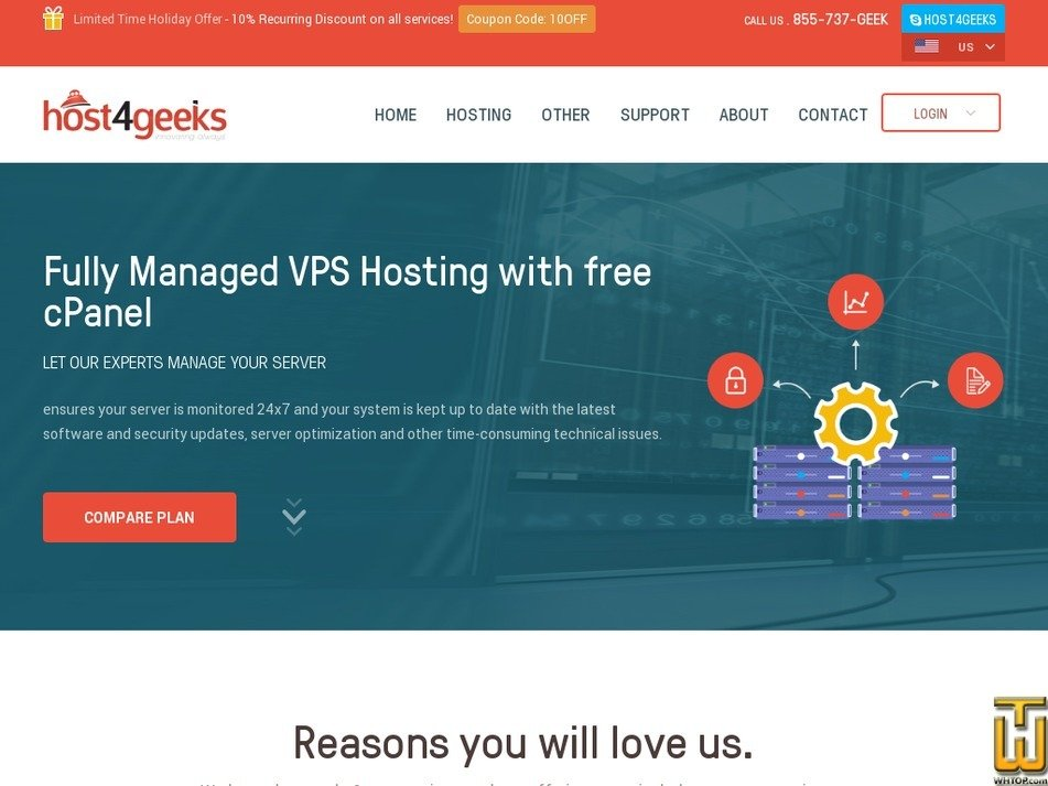 Screenshot of Fully Managed VPS VPS 3 from host4geeks.com