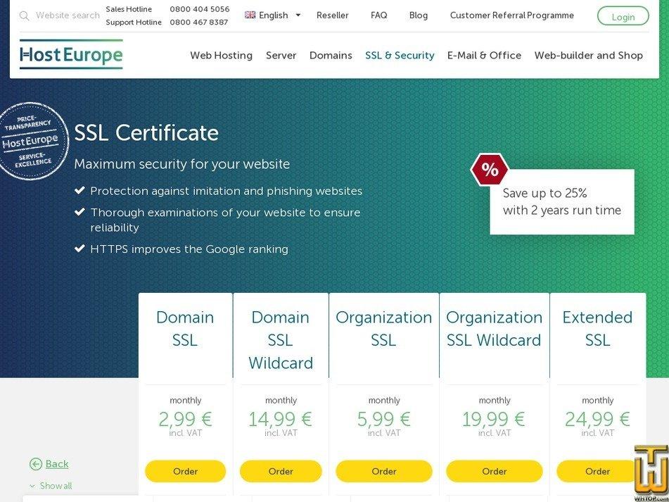 Organization Ssl From Hosteurope 39637 On Ssl Certificates