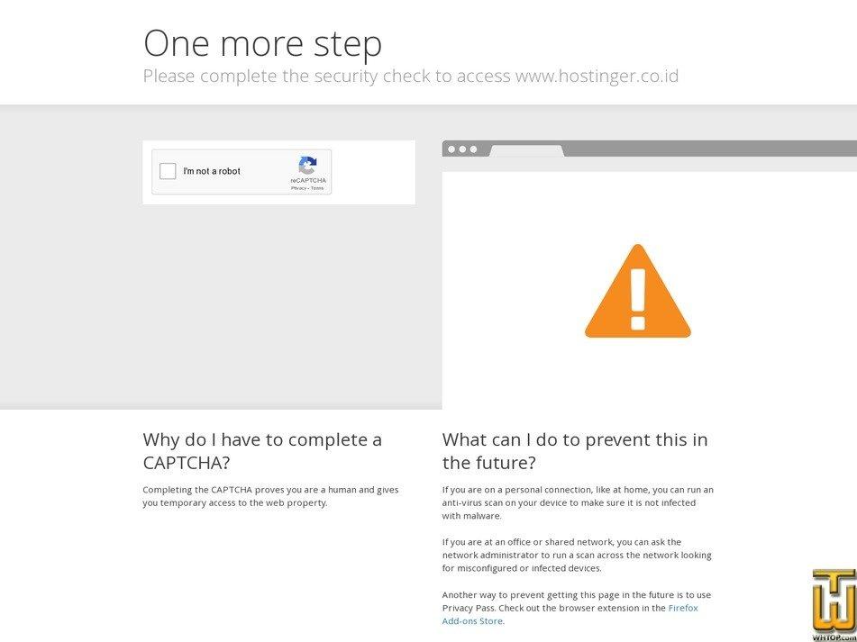 screenshot of Startup from hostinger.co.id