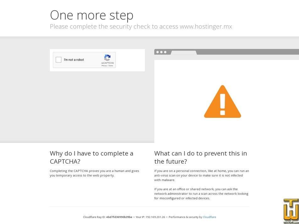 screenshot of Emprendedor from hostinger.mx