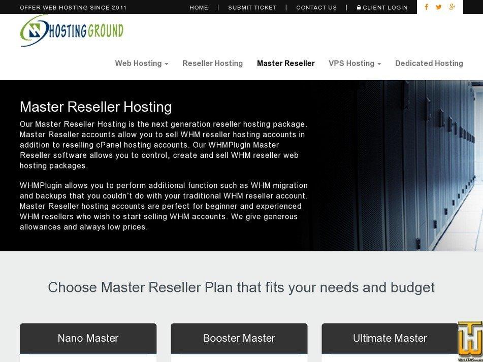Screenshot of Booster Master from hostingground.com