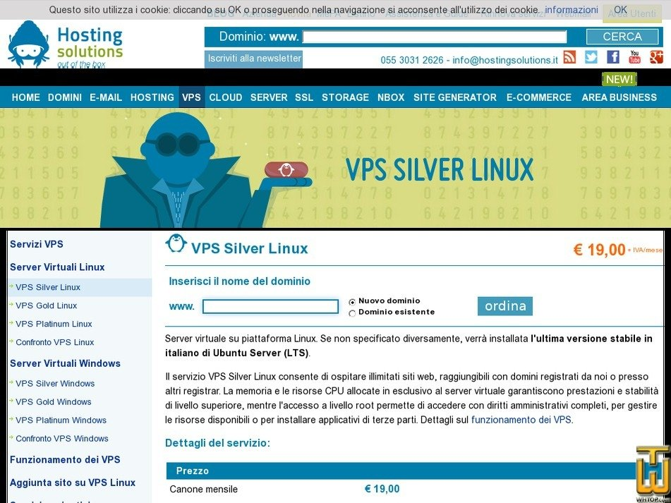 Screenshot of VPS Silver Linux from hostingsolutions.it