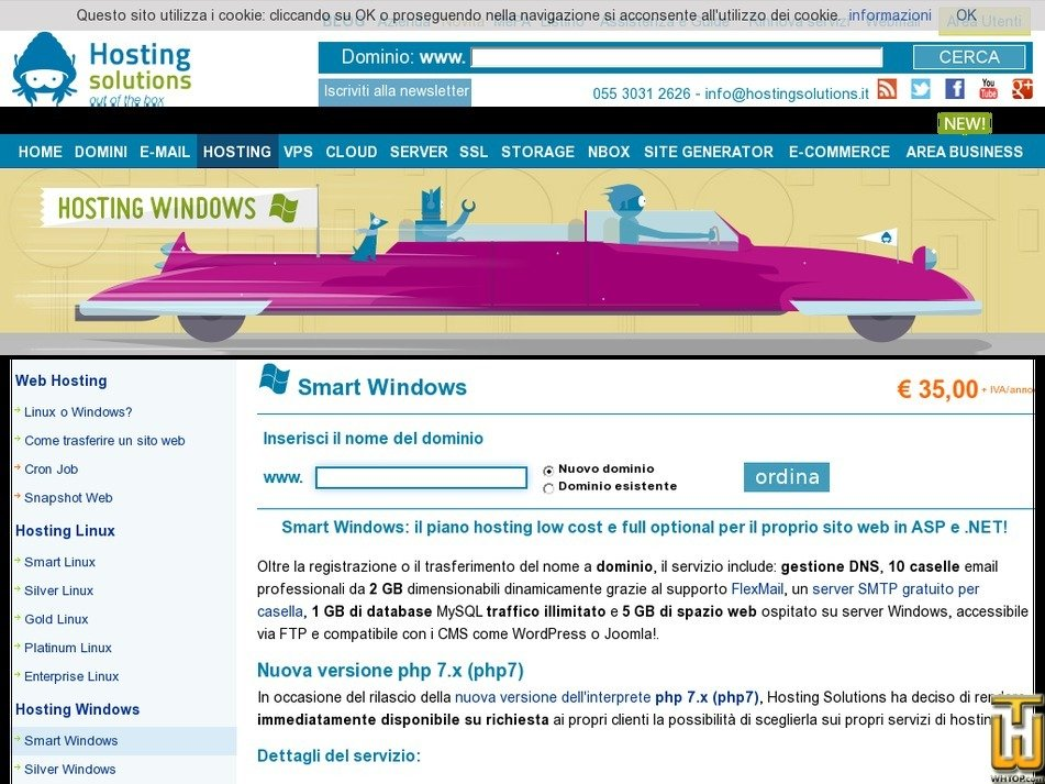 Screenshot of Smart Windows from hostingsolutions.it
