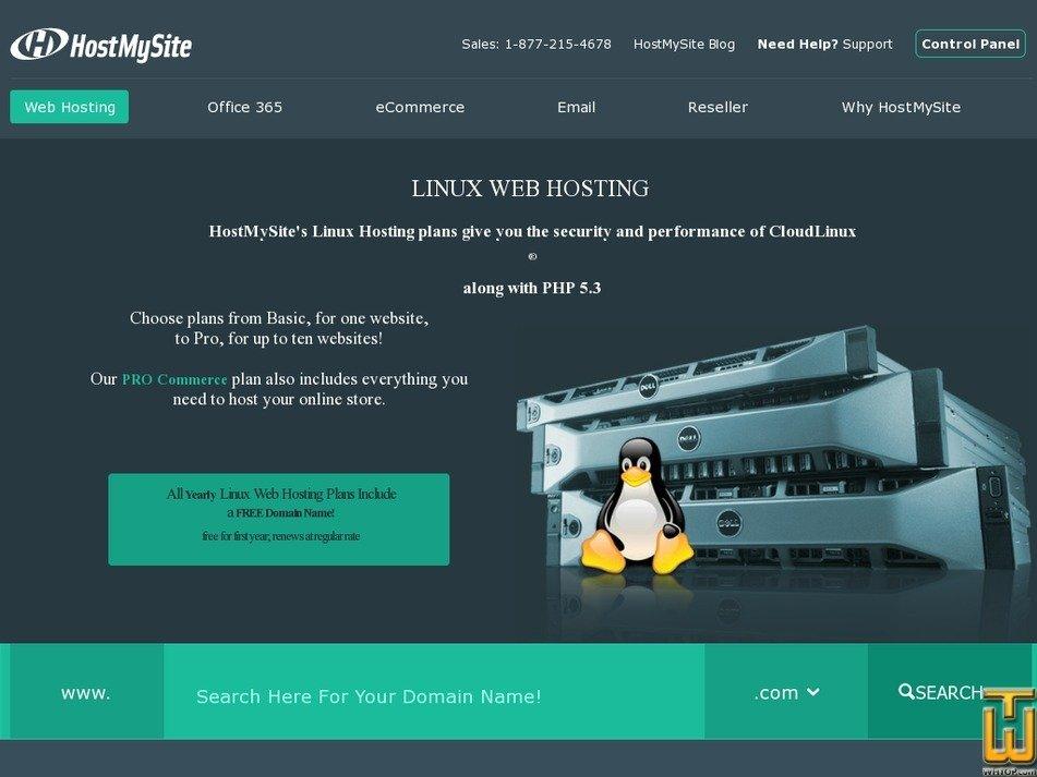 Screenshot of Pro from hostmysite.com
