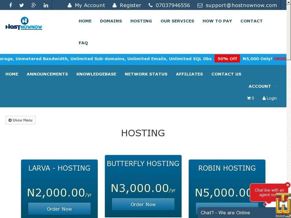 Screenshot of DUAL CORE (INTEL ATOM D525) from hostnownow.com