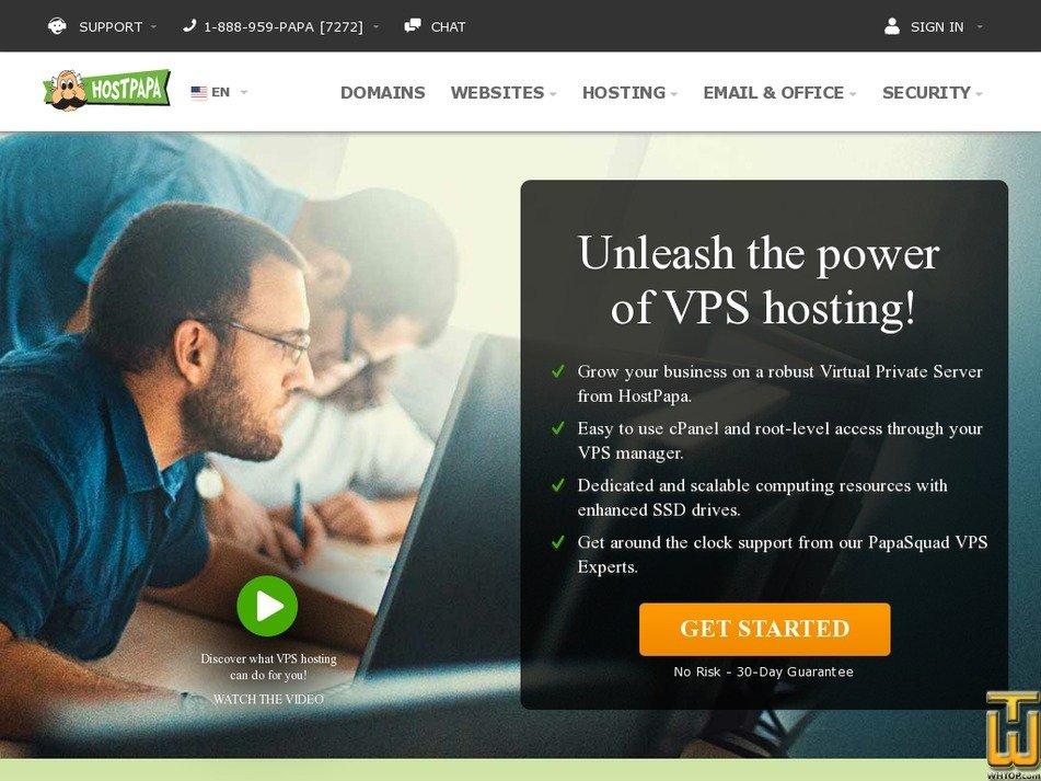 Screenshot of Plus from hostpapa.com