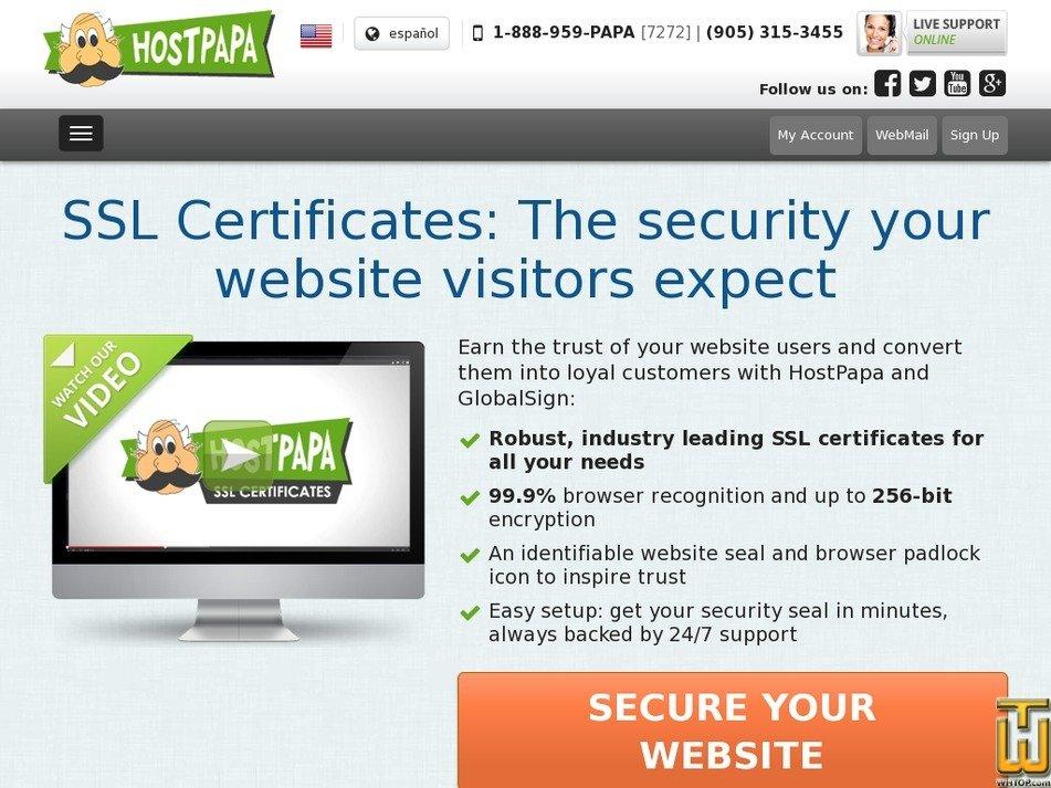 screenshot di Wildcard a partire dal hostpapa.com