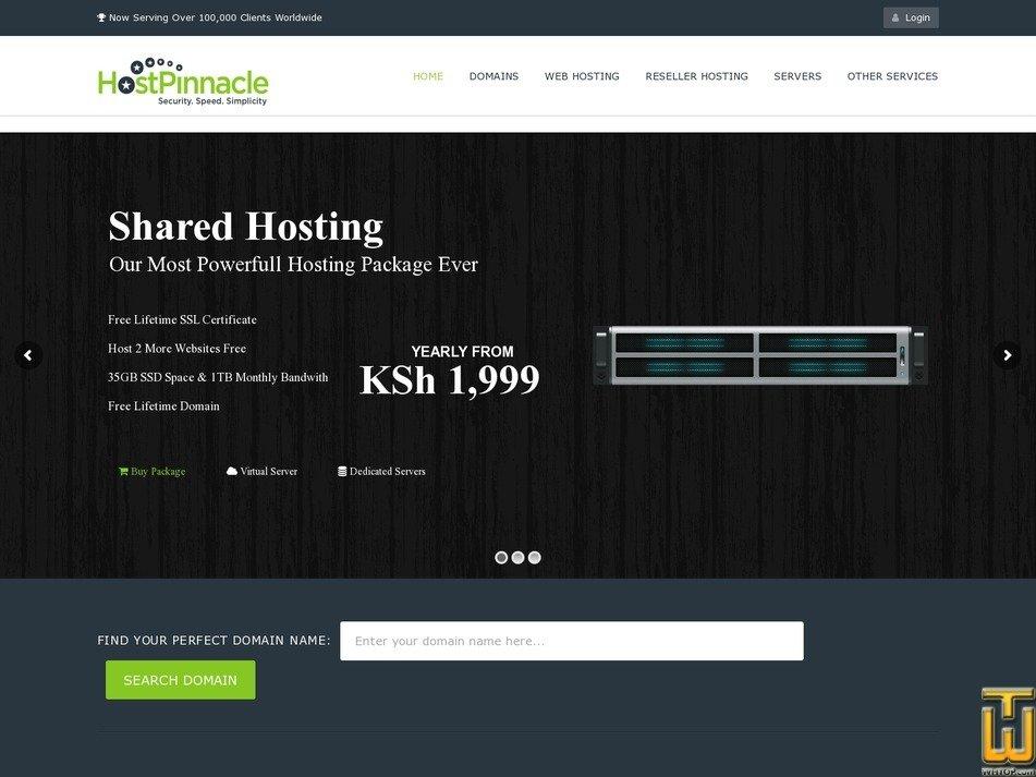 screenshot of .co.ke Domain from hostpinnacle.co.ke