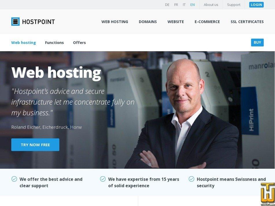 Screenshot of Standard from hostpoint.ch