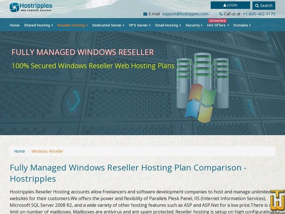 Screenshot of BUSINESS RESS from hostripples.com