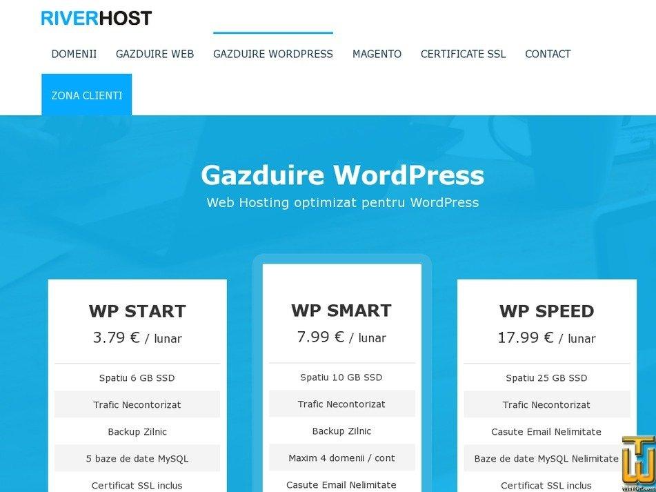 Screenshot of WP START from hostriver.ro