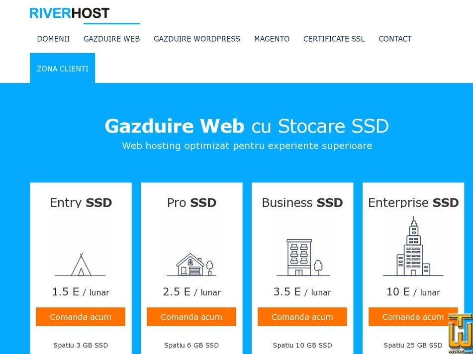 Screenshot of Entry SSD from hostriver.ro