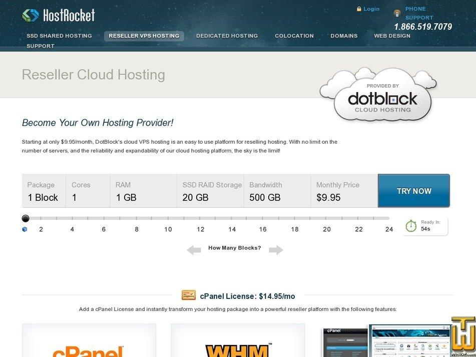 Screenshot of 2 Block from hostrocket.com