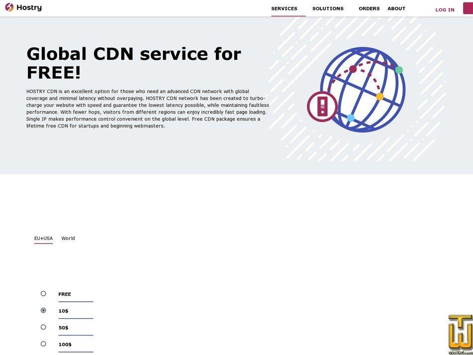 Screenshot of 30TB CDN - 100$/mo from hostry.com