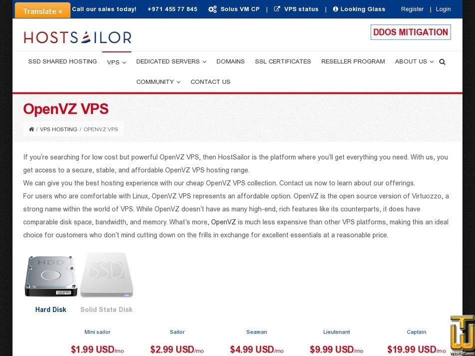 Screenshot of Captain OpenVZ from hostsailor.com