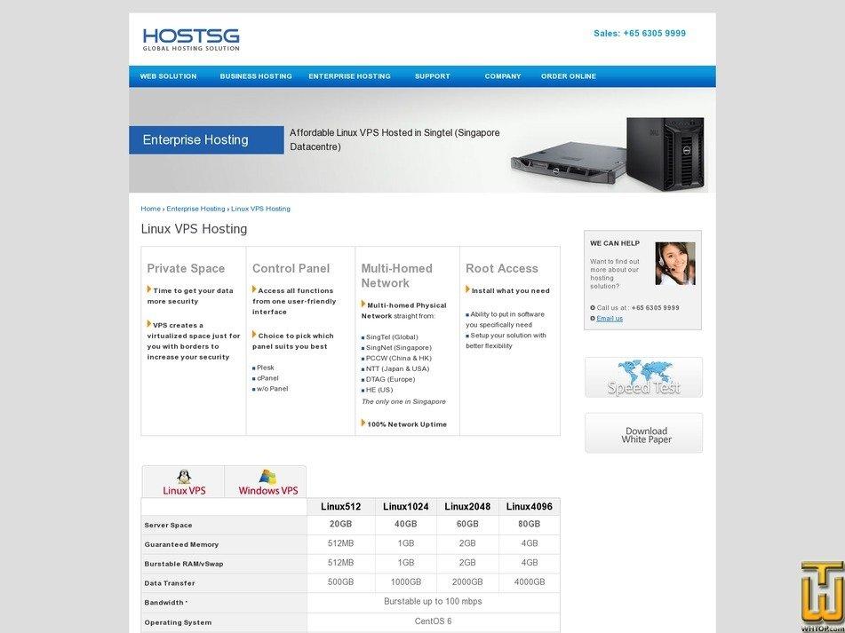 screenshot of Linux512 from hostsg.com