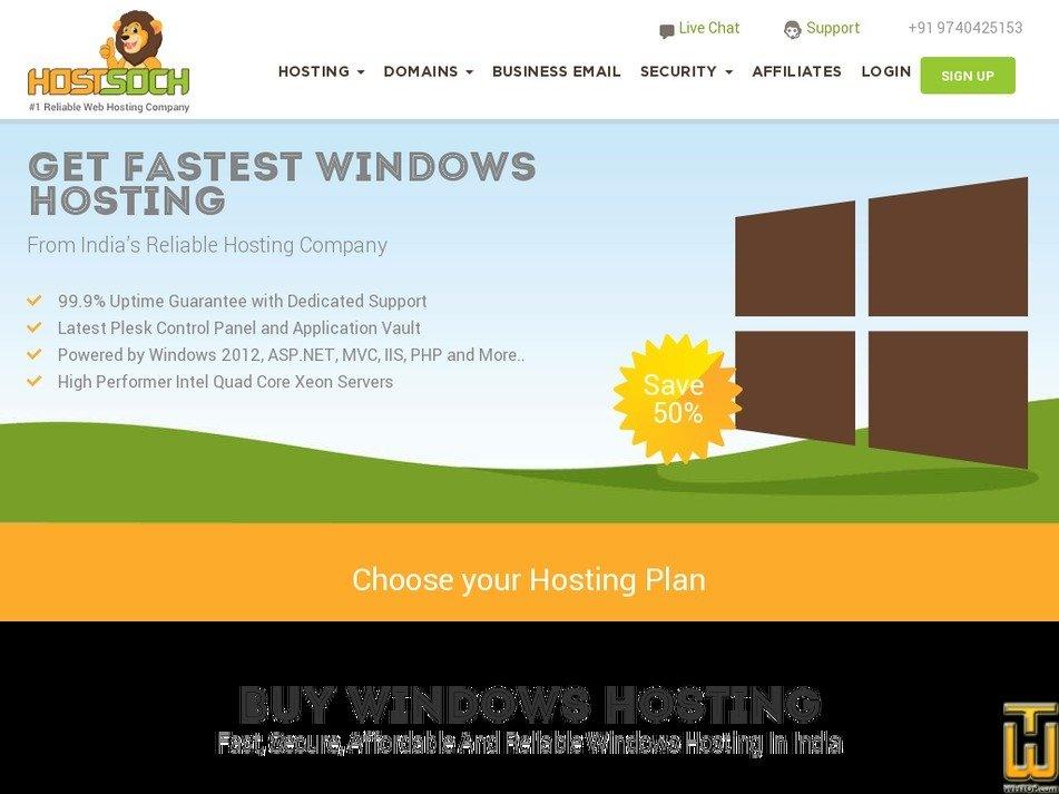 Screenshot of STARTER from hostsoch.in