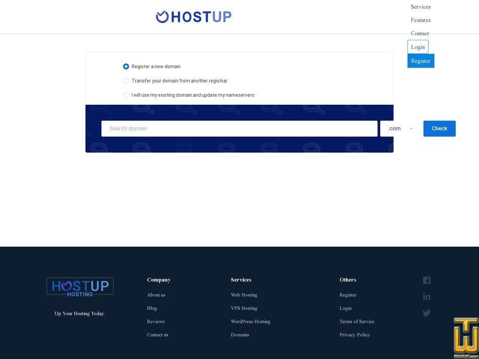 screenshot of Starter from hostup.org