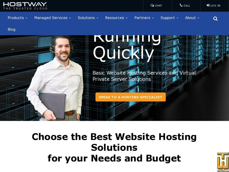Screenshot of Basic from hostway.com