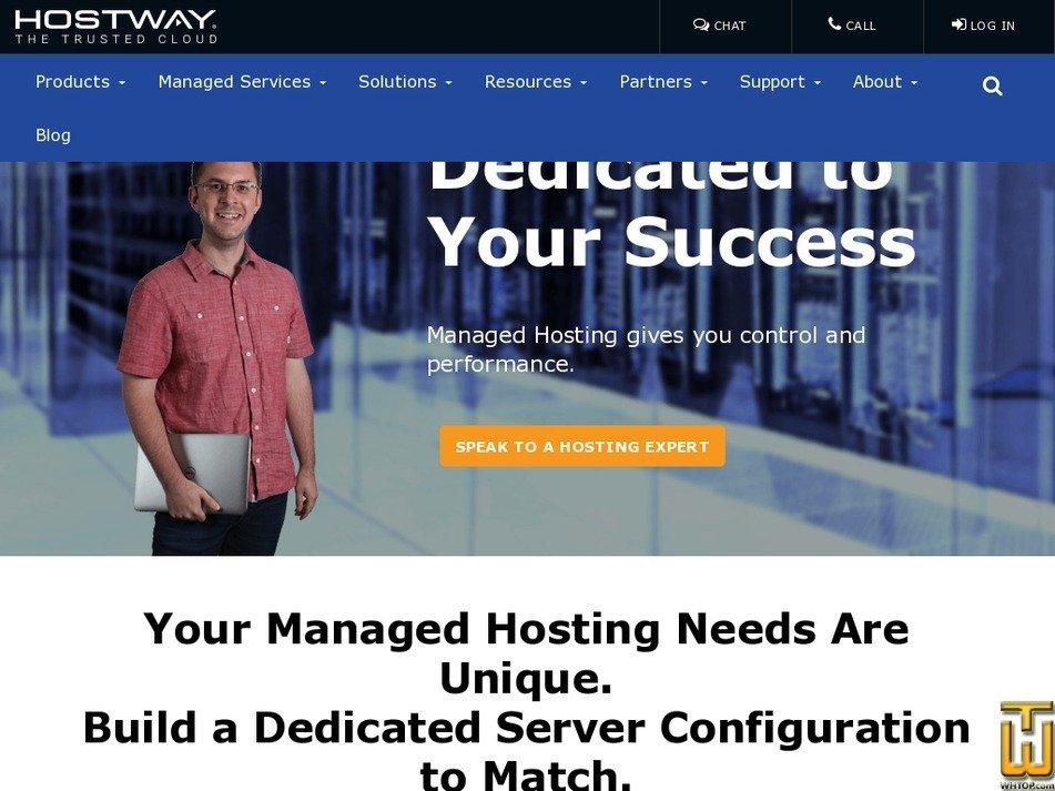 Screenshot of Performance from hostway.com