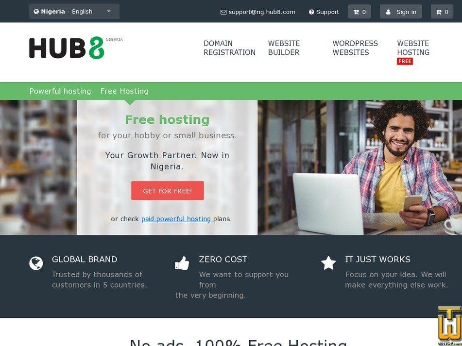 Screenshot of FREE from hub8.com