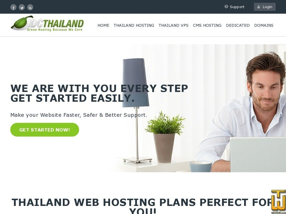 Screenshot of PLATINUM HOSTING from idcthailand.co.th