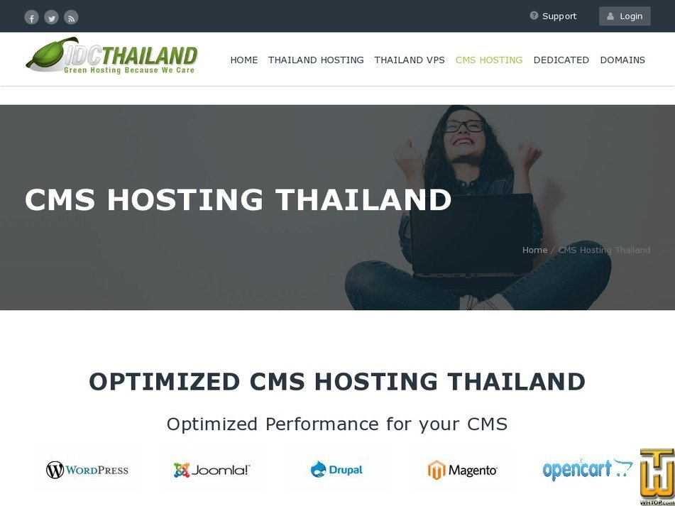 Screenshot of WordPress Hosting Starter from idcthailand.co.th