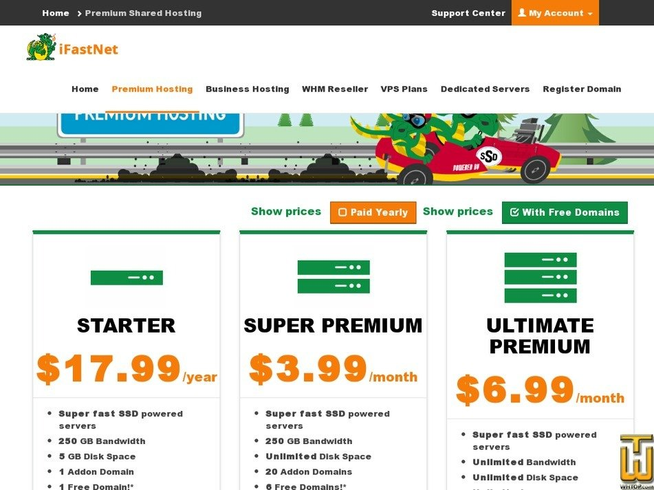 Screenshot of Starter from ifastnet.com