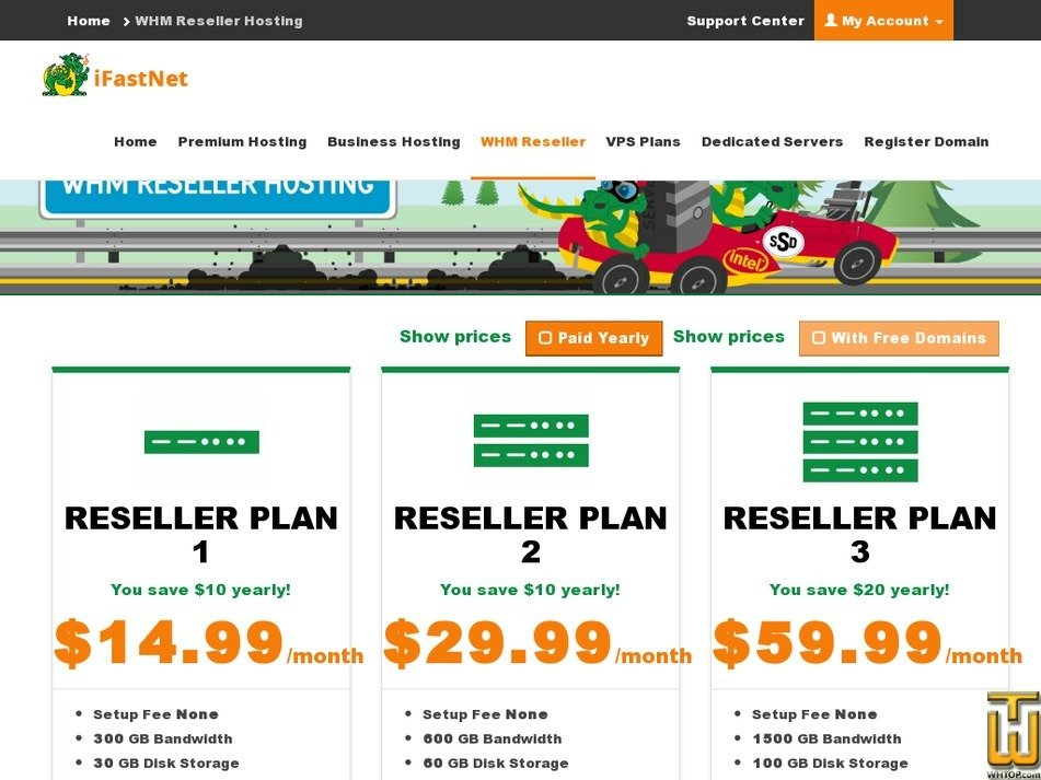 Screenshot of Reseller Plan 1 from ifastnet.com