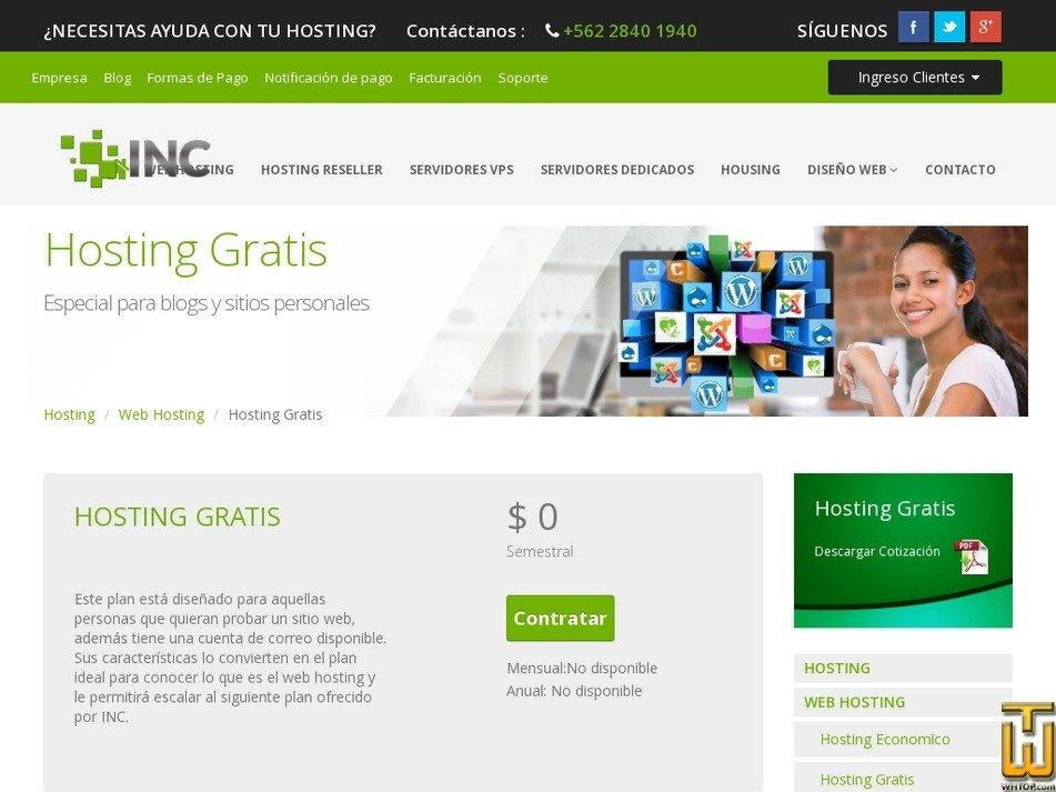 Screenshot of Gratis from inc.cl