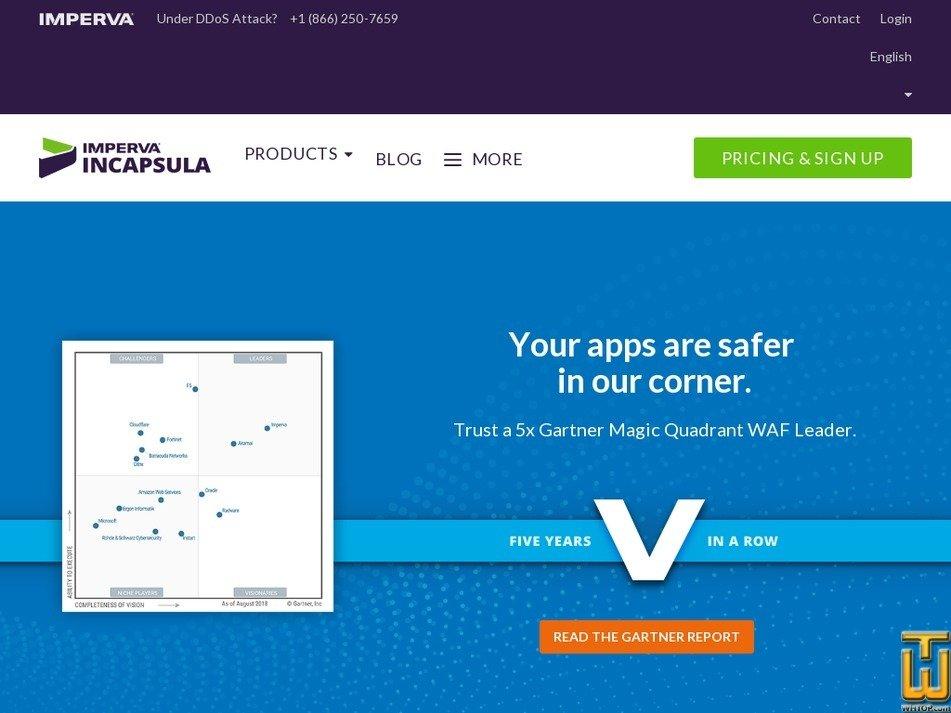 screenshot of Pro from incapsula.com