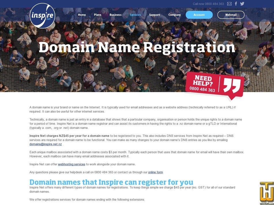 screenshot of .com from inspire.net.nz