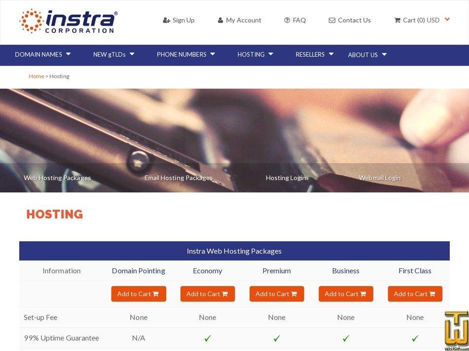 Screenshot of Premium from instra.com