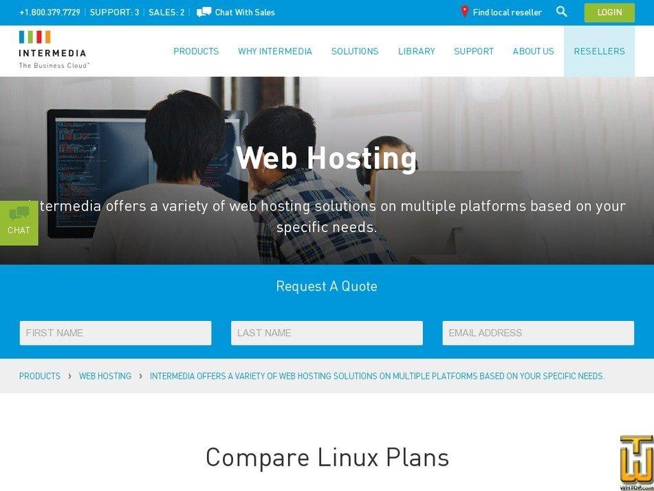 Screenshot of QuickWeb from intermedia.net