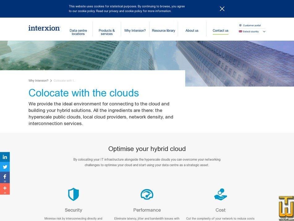 screenshot of Cloud from interxion.com