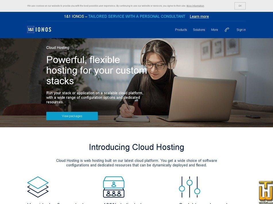 Screenshot of Cloud Hosting M from ionos.com