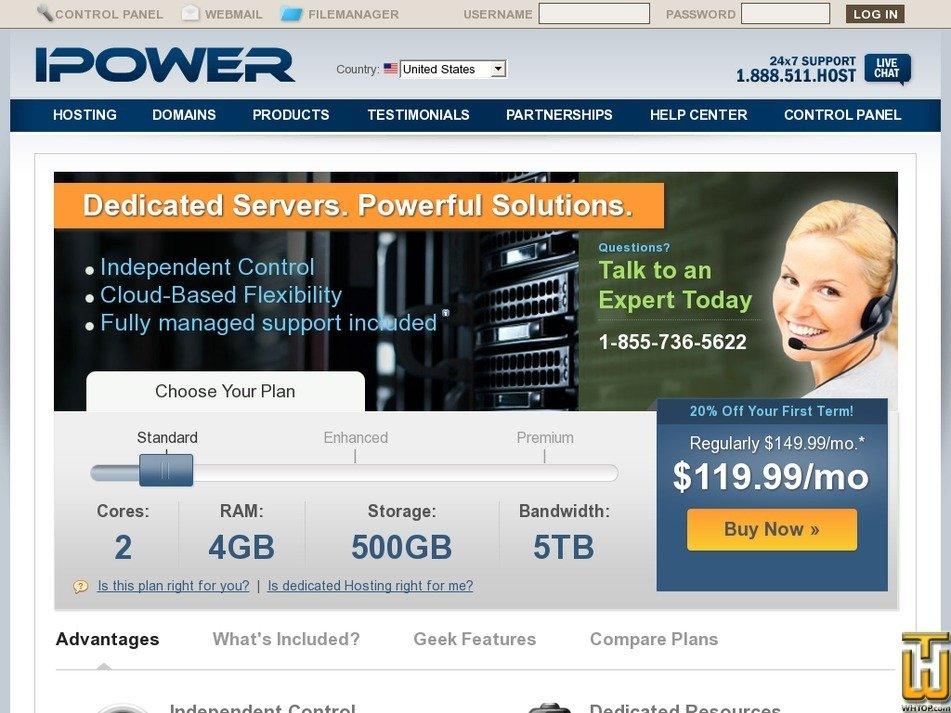 Screenshot of Standard from ipower.com