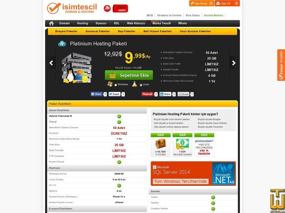 screenshot of Platinum from isimtescil.net