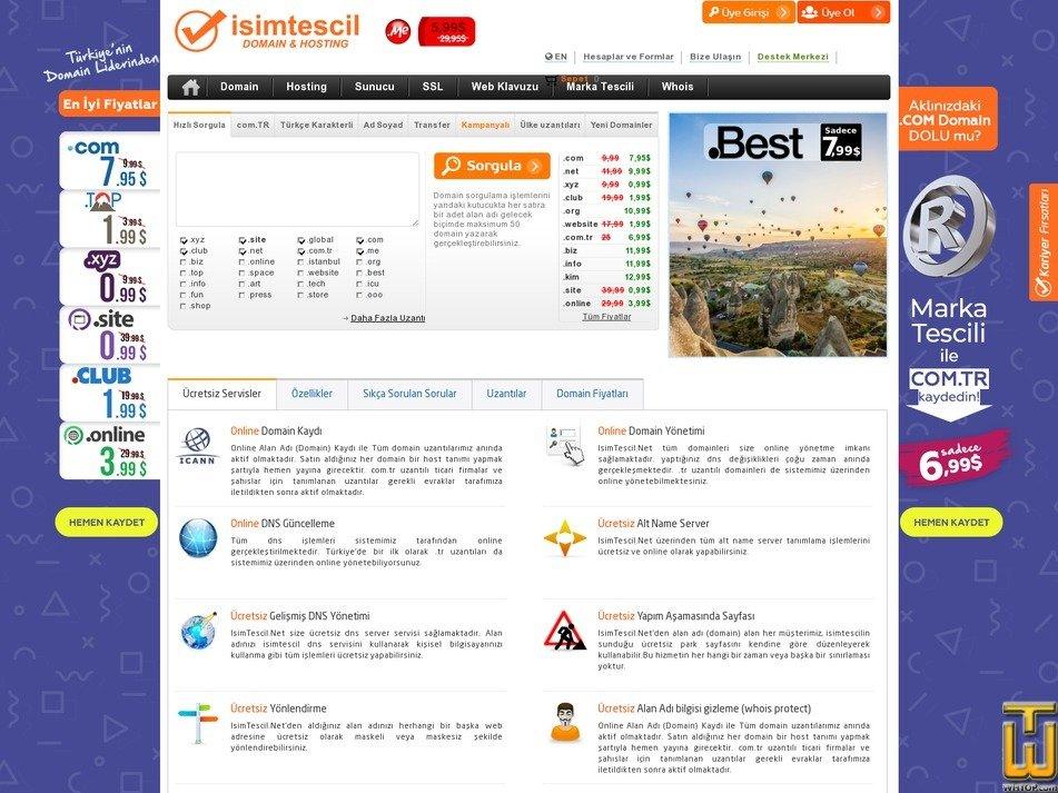 screenshot of .com from isimtescil.net