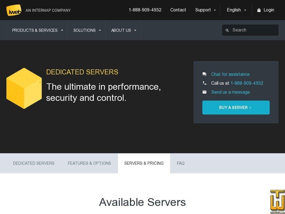 Screenshot of Intel® Xeon® E3-1230V2, 8GB RAM, Montreal from iweb.com
