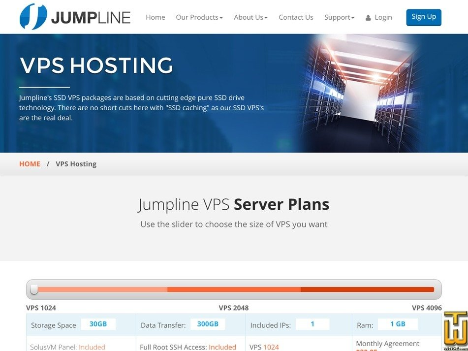 Screenshot of VPS 2048 from jumpline.com