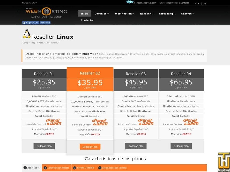 Screenshot of Reseller 01 from kapcservice.com