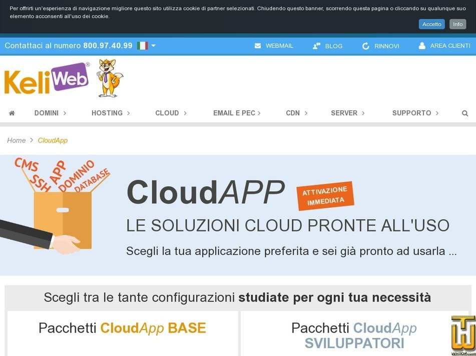 Screenshot of CloudApp from keliweb.it