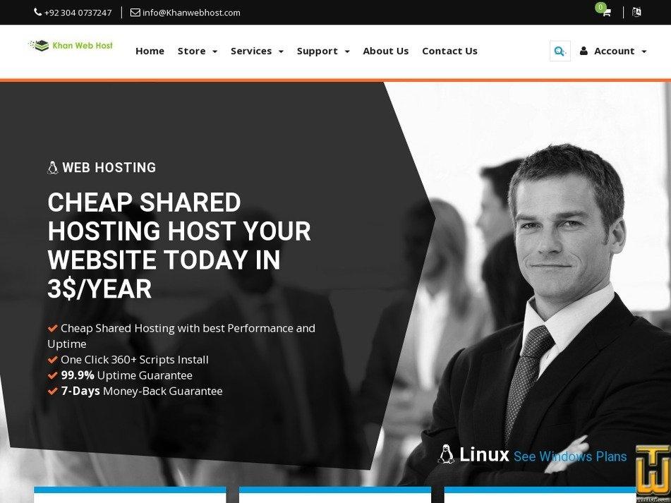 Screenshot of STARTER from khanwebhost.com