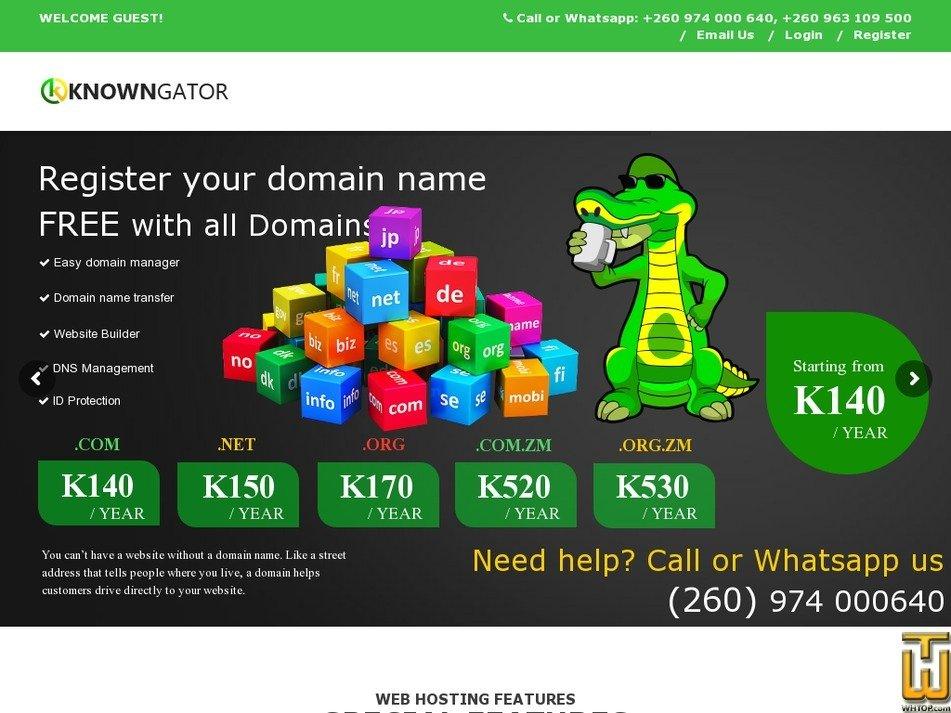 Screenshot of Basic Plan from knowngator.com