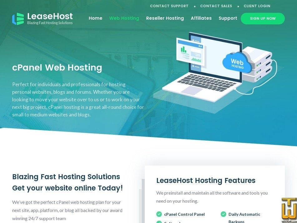 Screenshot of Starter from leasehost.com