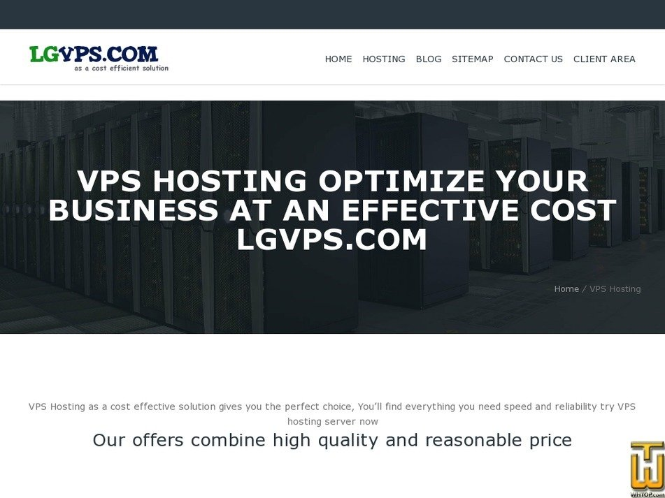 Screenshot of VPS 1 GB from lgvps.com