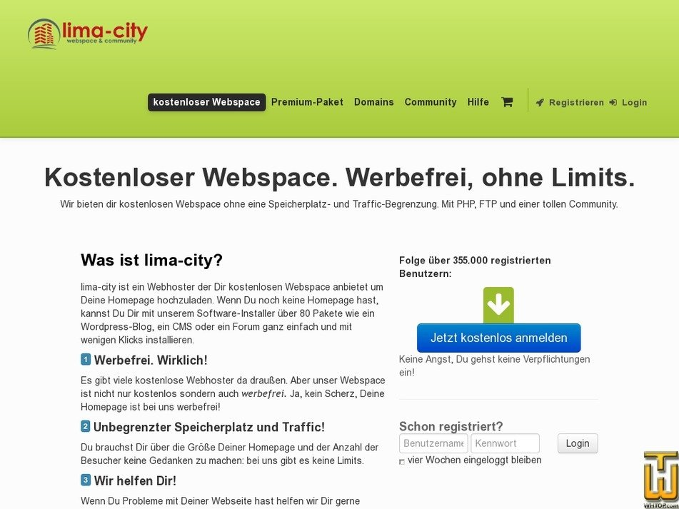 Screenshot of Free from lima-city.de